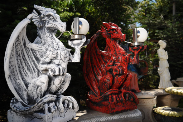 Фигура «Дракон со светильником», купить в Крыму и Севастополе
