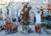 Фигура «Медведь на бревне», купить в Крыму и Севастополе