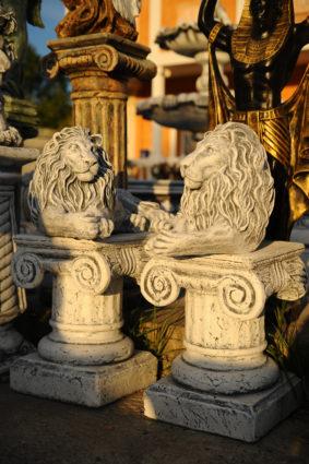 Фигура «Львы лежащие пара», купить в Крыму и Севастополе
