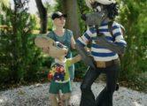 Фигура «Заяц и волк», купить в Крыму и Севастополе