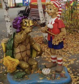 Фигура «Буратино и черепаха Тортилла», купить в Крыму и Севастополе