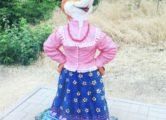Фигура «Лиса с колобком», купить в Крыму и Севастополе