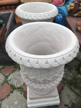 Уличный вазон для цветов с мраморной крошкой №2, купить в Крыму и Севастополе